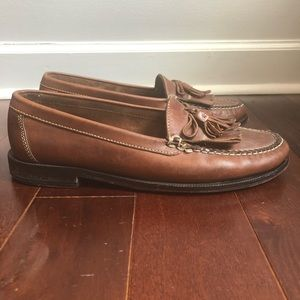COLE HAAN Tassel Loafers Brown Leather